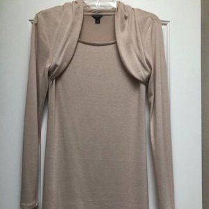 Ann Taylor Blush Long-Sleeved Tee - S